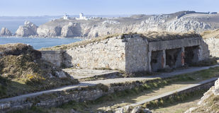 The atlantic wall. Ruins of old bunkers In Brittany, near the atlantic ocean Stock Photo