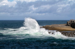 Atlantic wave. On irish coast in Doolin Royalty Free Stock Image