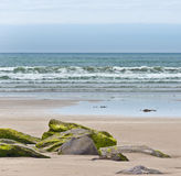 Atlantic Waves Breaking on a Beach Stock Images