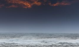 Atlantic waves at Mealista Coast on the Isle of Lewis in Scotland. Royalty Free Stock Photos