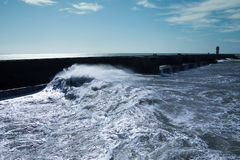 Atlantic waves at Portugal coast. Royalty Free Stock Photos