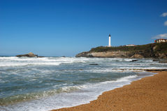 Atlantic waves surging towards coas near Biarritz. Stock Photography