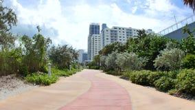 Atlantic Way Miami Beach stock video footage