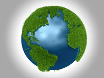 atlantic zielona oceanu planeta royalty ilustracja