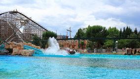 Atlantica Super Splash water roller coaster Royalty Free Stock Images