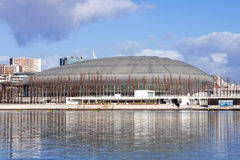 Atlantico Pavilion (Pavilhao Atlantico), currently called MEO Arena, in Park of Nations Royalty Free Stock Photo
