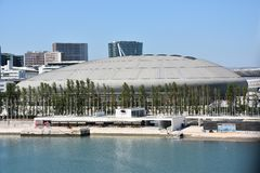 Atlantico Pavilion Pavilhao Atlantico in Lisbon, Portugal Stock Images