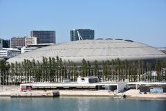 Atlantico Pavilion Pavilhao Atlantico in Lisbon, Portugal Stock Photo