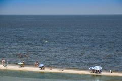 Atlantida plaży krajobraz w Canelones, Urugwaj Zdjęcia Stock