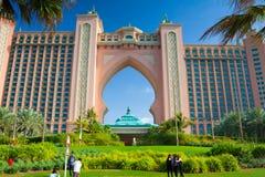 Atlantide, la località di soggiorno dell'albergo di lusso della palma è situata sull'isola, Duba Fotografie Stock