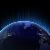 Atlantik 3d übertragen stock abbildung