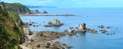 Atlantik-Küstenlinienpanorama Spanien Lizenzfreie Stockbilder