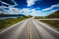 Atlantik-Straße Norwegen Stockbild