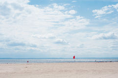 Atlantik-Strandansicht Lizenzfreie Stockfotos