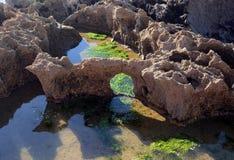 Atlantikküste nahe Essaouira Stockfotografie