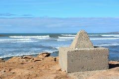 Atlantikküste nahe Essaouira Stockbild