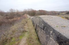 Atlantikwall Atlantic Wall near Katwijk in the Netherlands royalty free stock photos