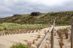 Atlantikwall bunkers in Scheveningen - The Netherlands Stock Images