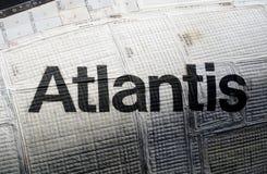 Atlantis astronautyczny wahadłowiec przy centrum lotów kosmicznych imienia johna f. kennedyego Obraz Stock