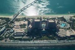 Atlantis den flyg- sikten för gömma i handflatanhotell Arkivbilder