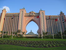 atlantis dubai hotelljumeirah gömma i handflatan uae Arkivbilder