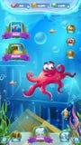 Atlantis fördärvar den mobila formatspelplanskärmen Royaltyfria Foton