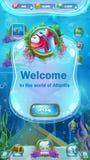 Atlantis fördärvar - det mobila formatspelplanfönstret Fotografering för Bildbyråer