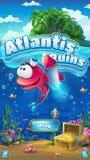Atlantis fördärvar - för formatfönstret för illustrationen den mobila skärmen Royaltyfri Fotografi