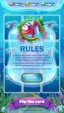 Atlantis fördärvar GUI - mobil formatregelskärm Royaltyfria Bilder