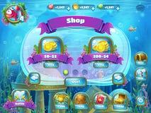 Atlantis fördärvar med fiskraket - shoppa fönstret royaltyfri illustrationer