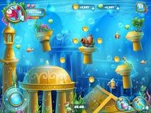Atlantis fördärvar spelplanen vektor illustrationer