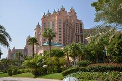 Atlantis gömma i handflatan på gömma i handflatan Jumeirah, Dubai Arkivbild