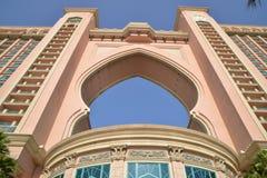 Atlantis gömma i handflatan på gömma i handflatan Jumeirah, Dubai Arkivfoton