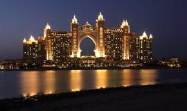Atlantis gömma i handflatanhotellet i Dubai Arkivbild