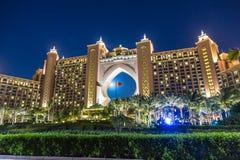 Atlantis gömma i handflatanhotellet i Dubai, Förenade Arabemiraten Arkivfoton
