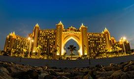 Atlantis gömma i handflatanhotellet i Dubai, Förenade Arabemiraten Arkivbilder