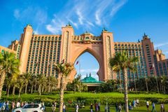 Atlantis gömma i handflatanhotellet i Dubai, United Arab Emirates Royaltyfri Bild