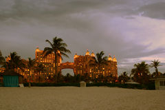 Atlantis Hotel Bahamas. Royal Tower at Atlantis Hotel on Paradise Island in Bahamas Royalty Free Stock Photography
