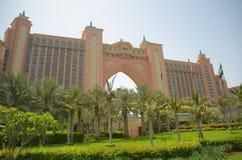 Atlantis hotel na Palmowym Dubaj Fotografia Stock