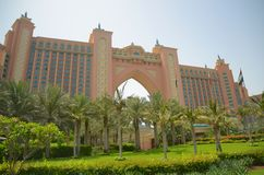 Atlantis hotel on the Palm Dubai. A front view of the atlantis hotel on The Palm : Dubai Stock Photography