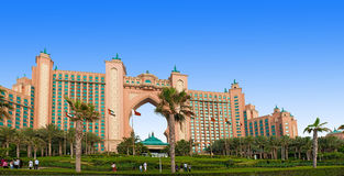 Atlantis hotel on the Palm Island Stock Image