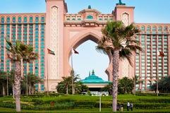 Atlantis hotel on the Palm Island Stock Photo