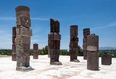 Atlantis i Tula Mexico Arkivbilder