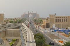 φοίνικας νησιών ξενοδοχείων του Ντουμπάι atlantis jumeirah στοκ εικόνες