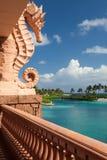 Atlantis kasinoterrass med seahorsen, Nassau, Bahamas Fotografering för Bildbyråer