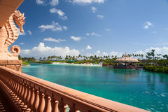 Atlantis kasinoterrass, Nassau, Bahamas Royaltyfri Fotografi