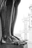 Atlantis lifted marble feet closeup Royalty Free Stock Photo