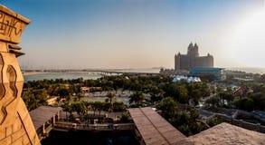 Atlantis the palm. Picture of the atlanti hotel in dubai from the aquapark Stock Image