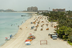 Atlantis, The Palm Hotel Beach that View From Monorail, Dubai Stock Photos
