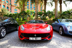 The Atlantis the Palm hotel and limousines Stock Photo